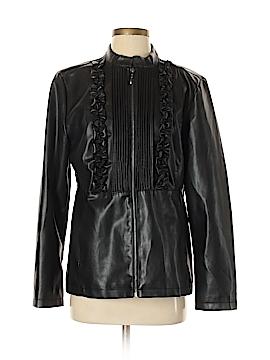 Susan Graver Faux Leather Jacket Size S