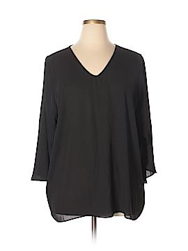 PREMISE 3/4 Sleeve Blouse Size 2X (Plus)