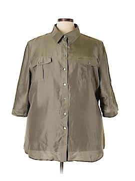 Avenue Short Sleeve Silk Top Size 26 - 28 Plus (Plus)