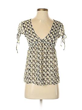 Express Design Studio Short Sleeve Silk Top Size XS