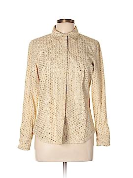 Ballinger Gold Long Sleeve Button-Down Shirt Size L