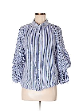 Ro & De Long Sleeve Button-Down Shirt Size M