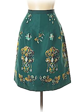Oscar De La Renta Silk Skirt Size 14