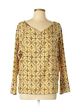 Adrienne Vittadini 3/4 Sleeve Silk Top Size L