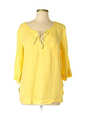 Lauren Jeans Co. 3/4 Sleeve Button-Down Shirt Size L