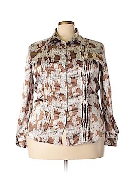 Antilia Femme Long Sleeve Button-Down Shirt Size 2X (Plus)