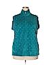 Quacker Factory Women Fleece Size 1X (Plus)