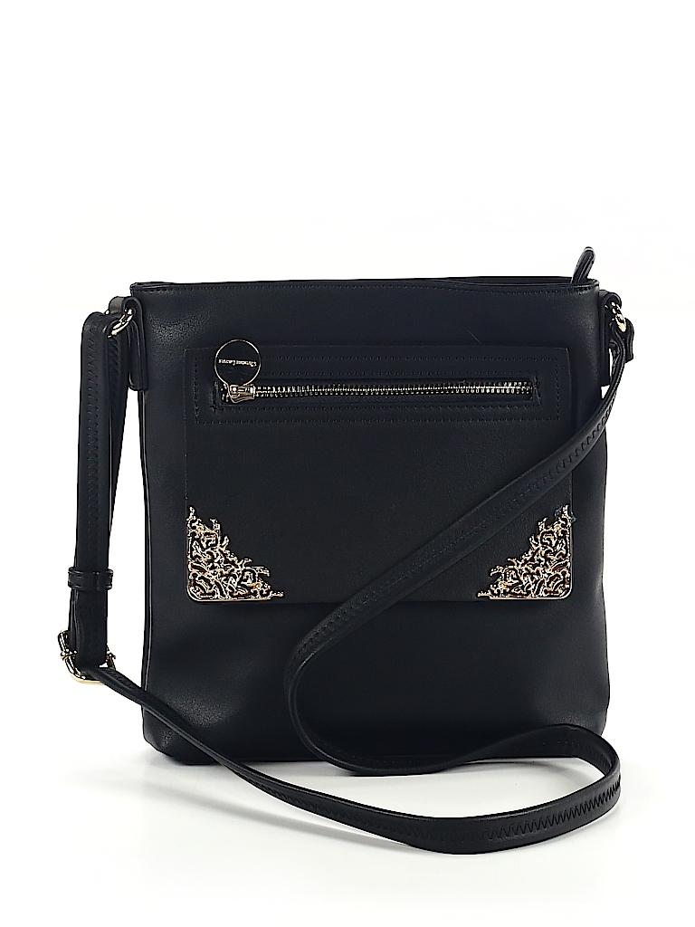 CXL by Christian Lacroix 100% Polyurethane Solid Black Shoulder Bag ... b123328af63f8