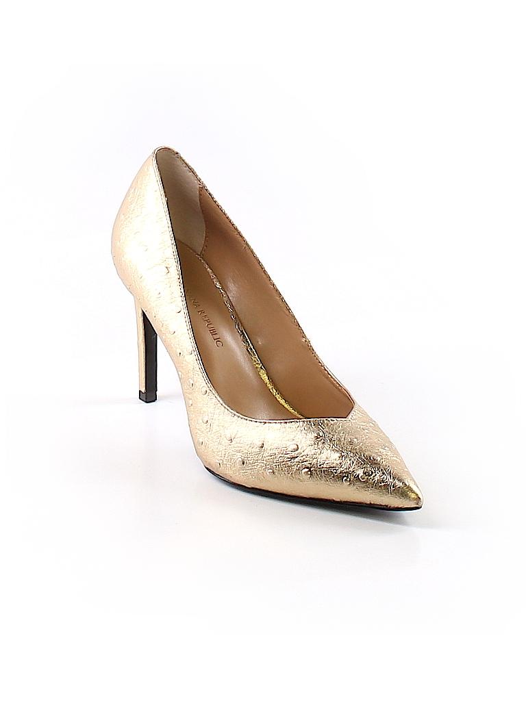 01fc0e52545b Banana Republic Metallic Gold Heels Size 6 1 2 - 76% off