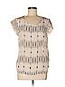 Cynthia Rowley TJX Women Short Sleeve Silk Top Size M