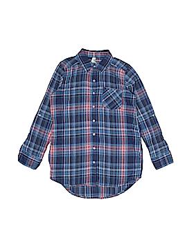 Girl Krazy 3/4 Sleeve Button-Down Shirt Size 8