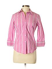 New York & Company Women Long Sleeve Button-Down Shirt Size S