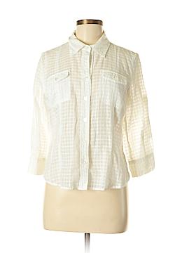 Gloria Vanderbilt Long Sleeve Button-Down Shirt Size M