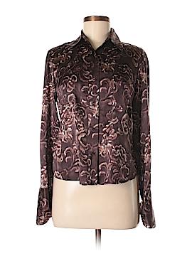 Linda Allard Ellen Tracy Long Sleeve Silk Top Size 6 (Petite)