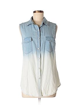 Paper Crane Sleeveless Button-Down Shirt Size M