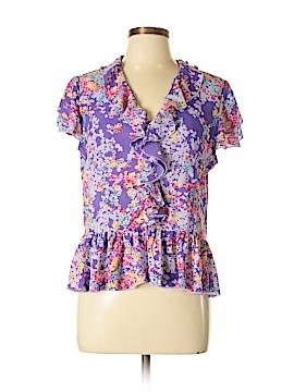 Violet & Claire Short Sleeve Blouse Size L