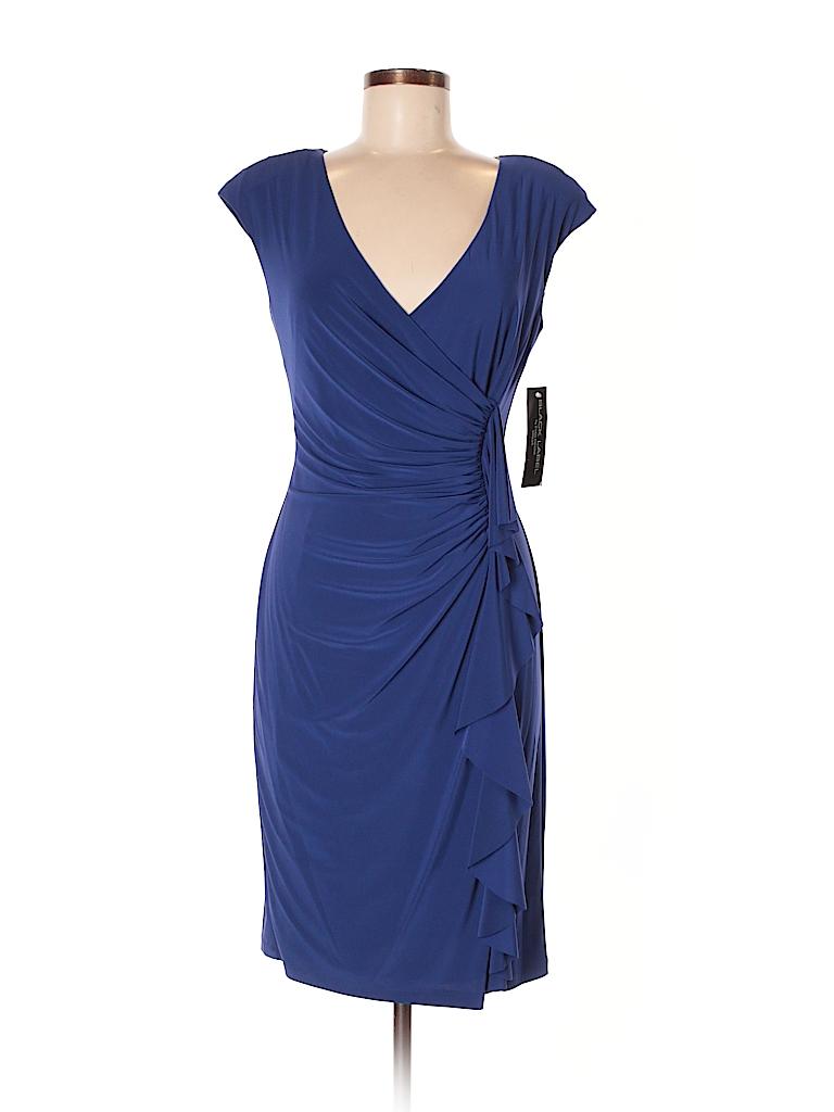 3e82a116b6 Black Label by Evan Picone Solid Dark Blue Casual Dress Size 8 - 68 ...