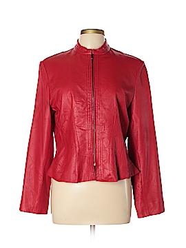 Anne Klein Leather Jacket Size L