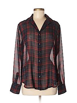Press Long Sleeve Button-Down Shirt Size M