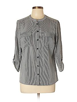 Kim Rogers 3/4 Sleeve Button-Down Shirt Size L (Petite)