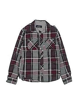 Buffalo by David Bitton Long Sleeve Button-Down Shirt Size M (Youth)