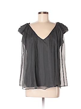 Miguelina Sleeveless Silk Top Size M