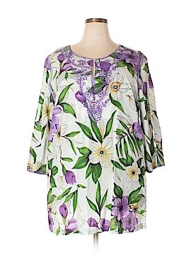 Soft Surroundings 3/4 Sleeve Blouse Size 2X (Plus)