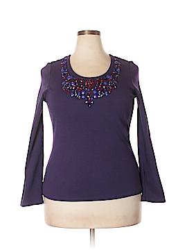DG^2 by Diane Gilman Long Sleeve Top Size 1X (Plus)