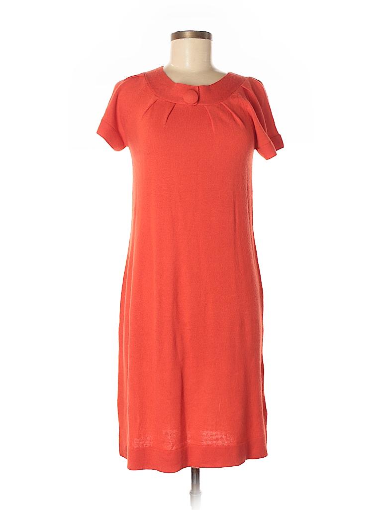 ebd175e27299 AGB 100% Acrylic Solid Orange Casual Dress Size M - 90% off
