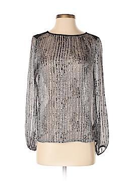 Ella Moss Long Sleeve Silk Top Size XS
