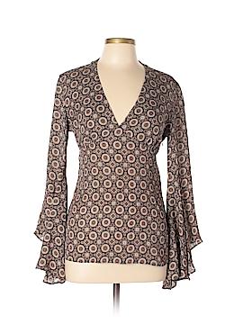 Michael Kors Long Sleeve Silk Top Size 8