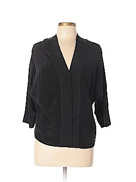 Sandro 3/4 Sleeve Silk Top Size Med (2)