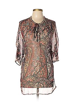 Joie a La Plage Short Sleeve Silk Top Size M