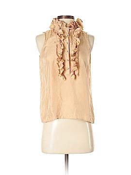 J. Crew Sleeveless Silk Top Size 4 (Petite)