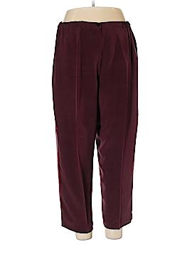 Josephine Chaus Silk Pants Size 18 (Plus)