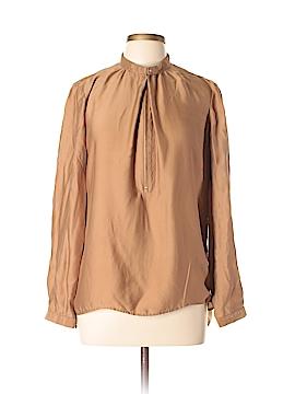 Massimo Dutti Long Sleeve Silk Top Size 12