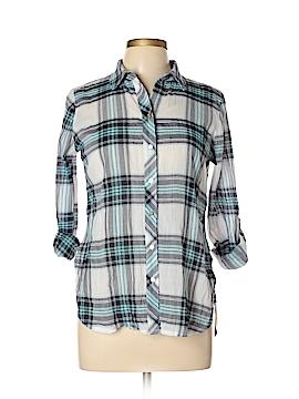 Neiman Marcus Long Sleeve Button-Down Shirt Size M