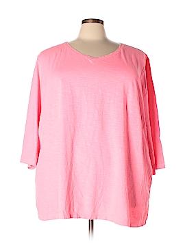 Catherines 3/4 Sleeve T-Shirt Size 4X (Plus)