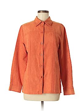 Relativity Long Sleeve Button-Down Shirt Size M
