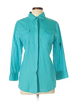 Chaus Sport Long Sleeve Button-Down Shirt Size L