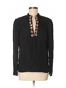 Tory Burch Long Sleeve Silk Top Size 8