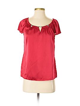 White House Black Market Short Sleeve Silk Top Size S