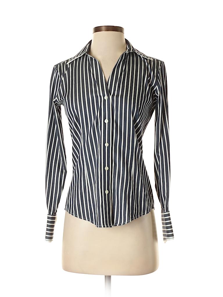 e7aa245b7 Brooks Brothers 346 Stripes Navy Blue Long Sleeve Button-Down Shirt ...