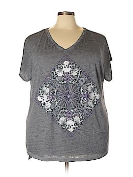Rock & Republic Short Sleeve T-Shirt Size 2X (Plus)