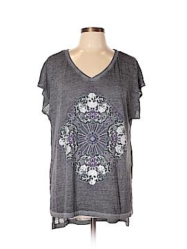 Rock & Republic Short Sleeve T-Shirt Size 0X (Plus)