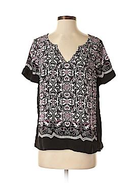 White House Black Market Short Sleeve Blouse Size 8