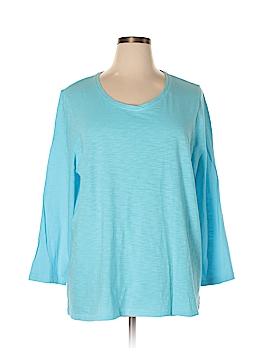 Catherines 3/4 Sleeve T-Shirt Size 1X (Plus)