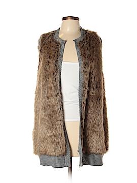 NY Collection Faux Fur Vest Size L