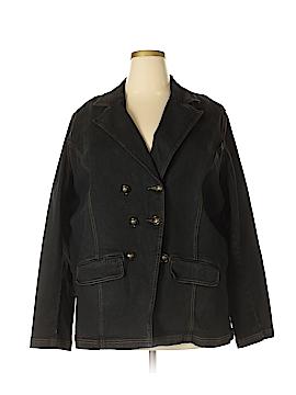 DG^2 by Diane Gilman Denim Jacket Size 3X (Plus)