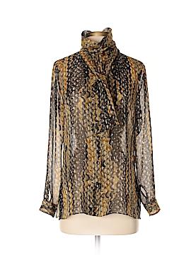 Peter Cohen Long Sleeve Silk Top Size S